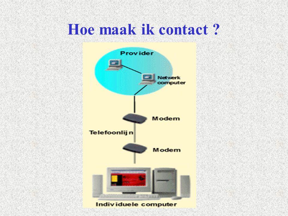Hoe maak ik contact