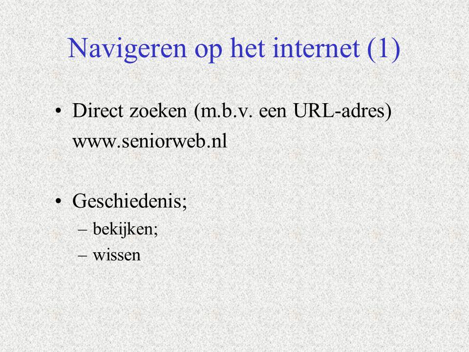Navigeren op het internet (1)