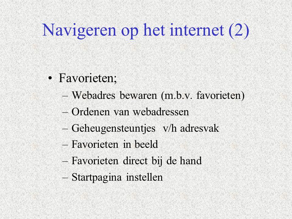 Navigeren op het internet (2)