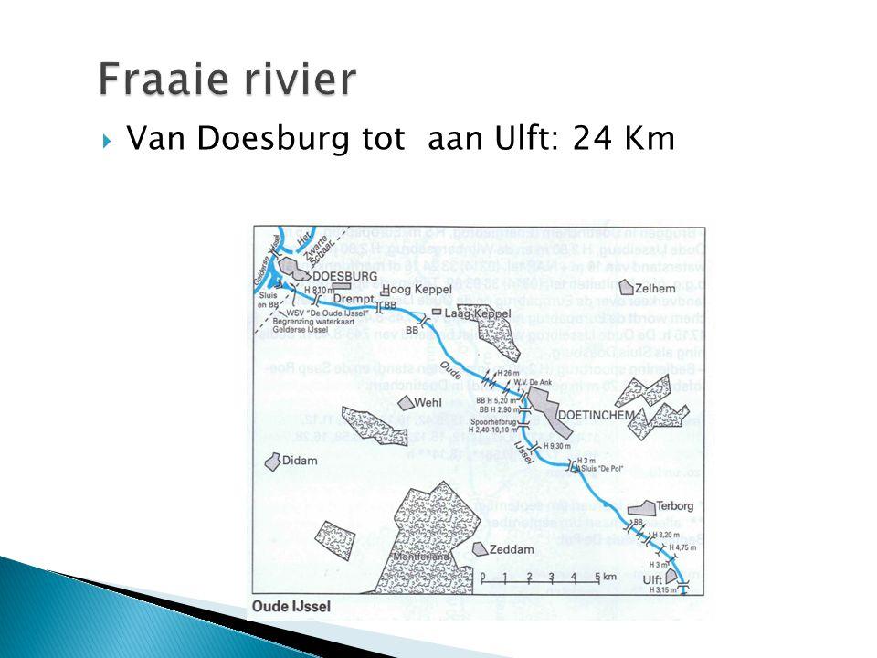 Fraaie rivier Van Doesburg tot aan Ulft: 24 Km