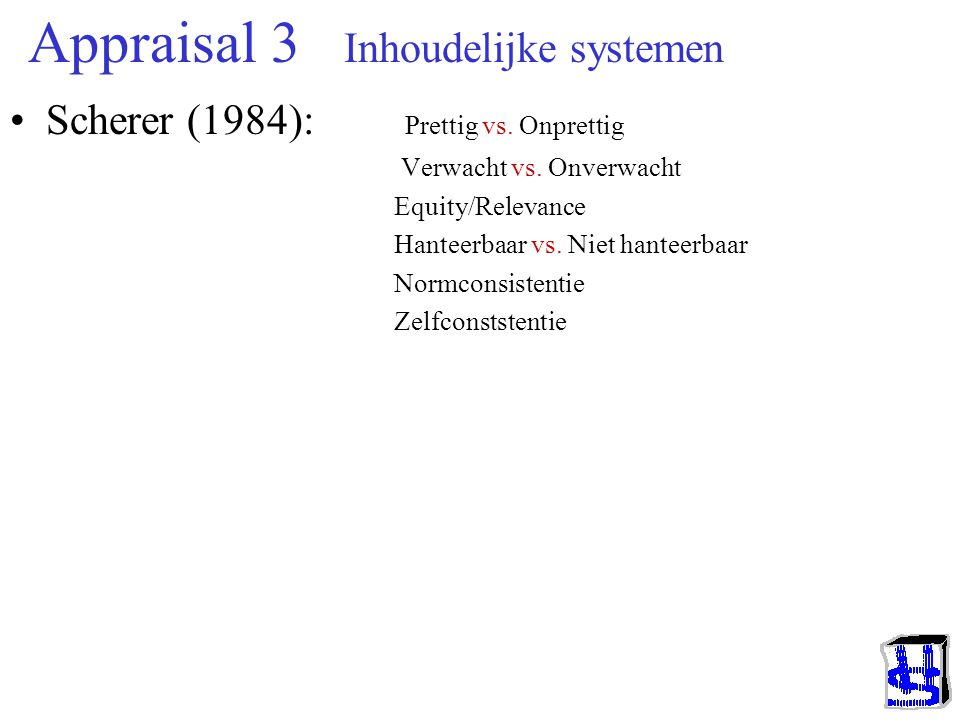 Appraisal 3 Inhoudelijke systemen