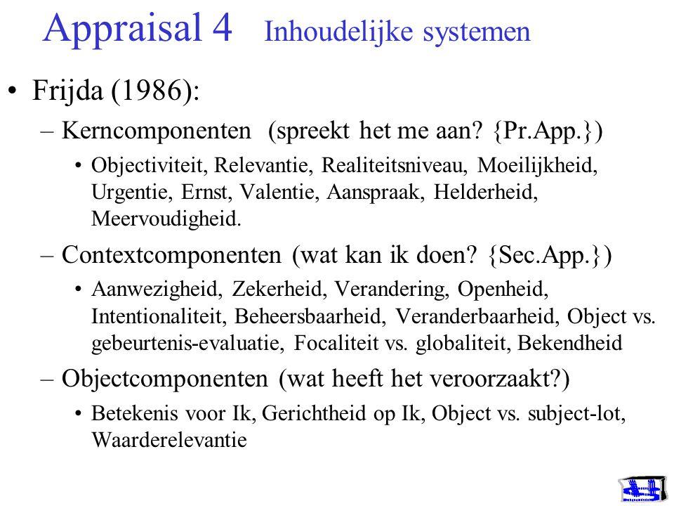 Appraisal 4 Inhoudelijke systemen