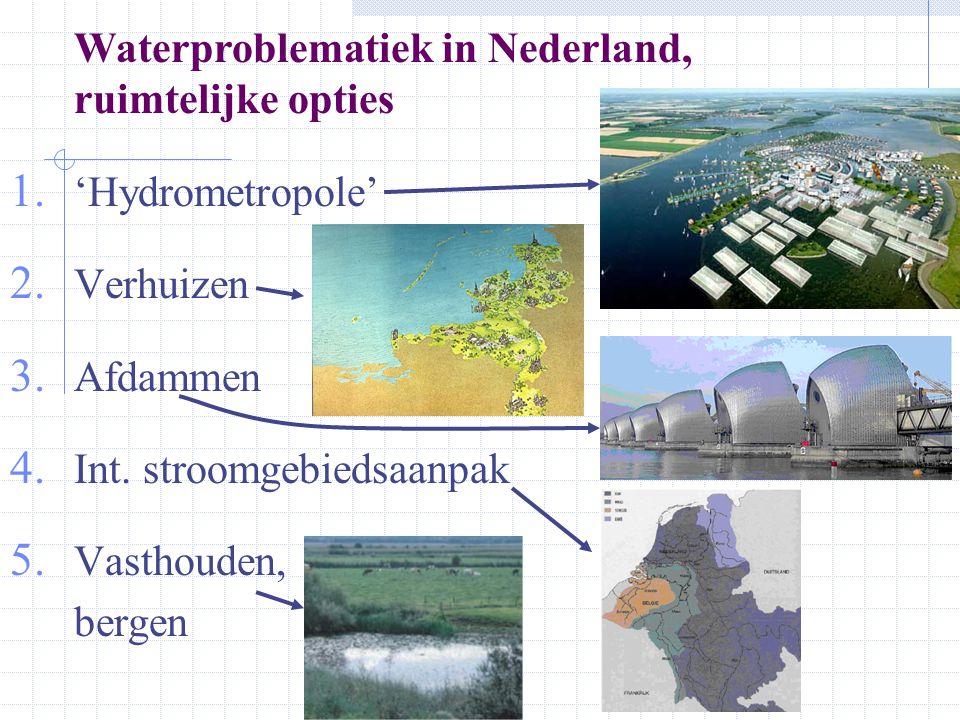 Waterproblematiek in Nederland, ruimtelijke opties