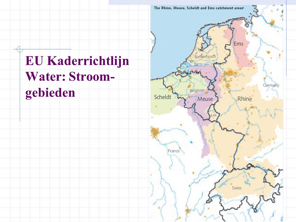EU Kaderrichtlijn Water: Stroom-gebieden