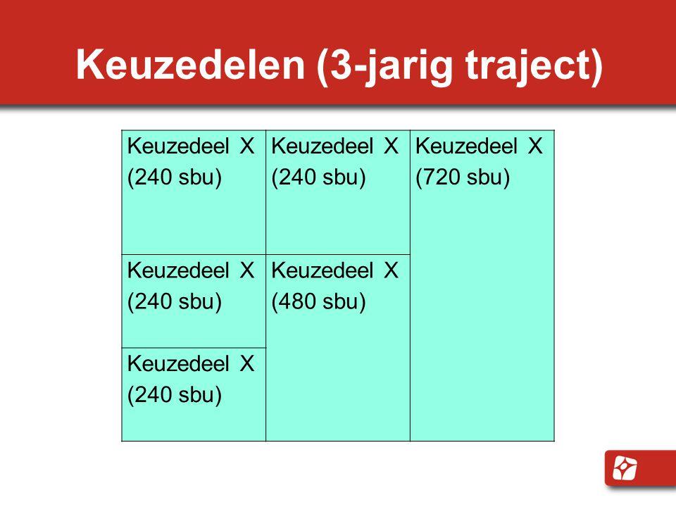Keuzedelen (3-jarig traject)