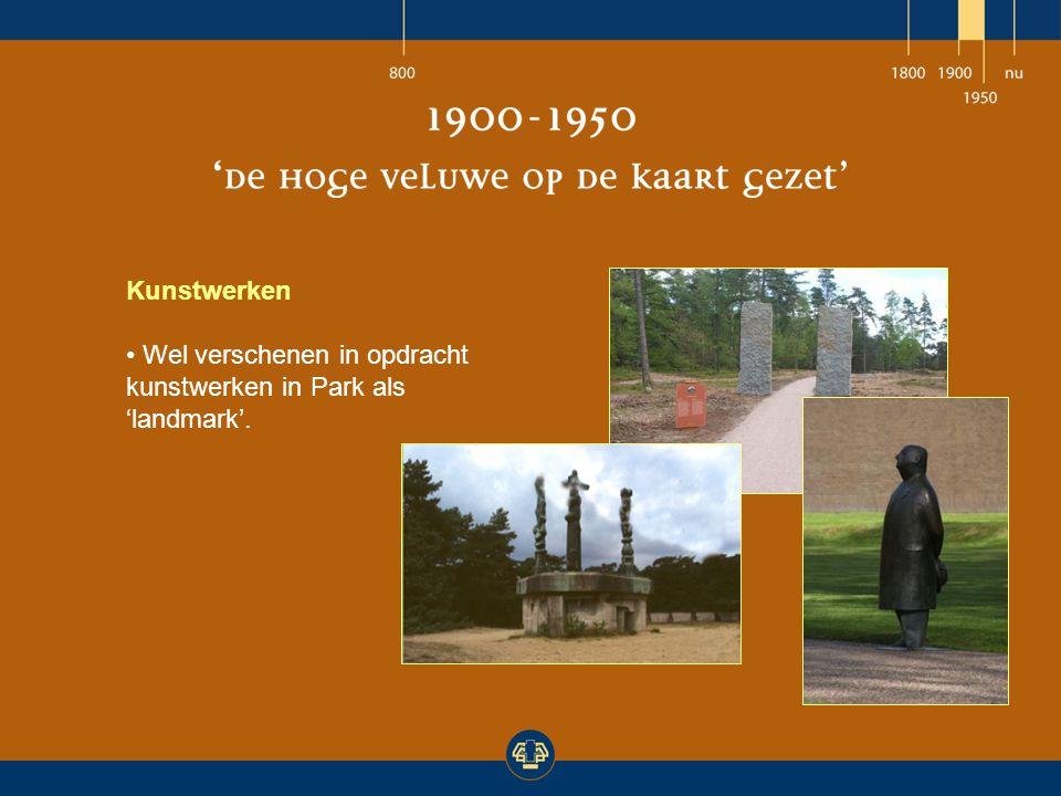 Kunstwerken Wel verschenen in opdracht kunstwerken in Park als 'landmark'.