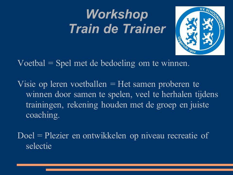 Workshop Train de Trainer