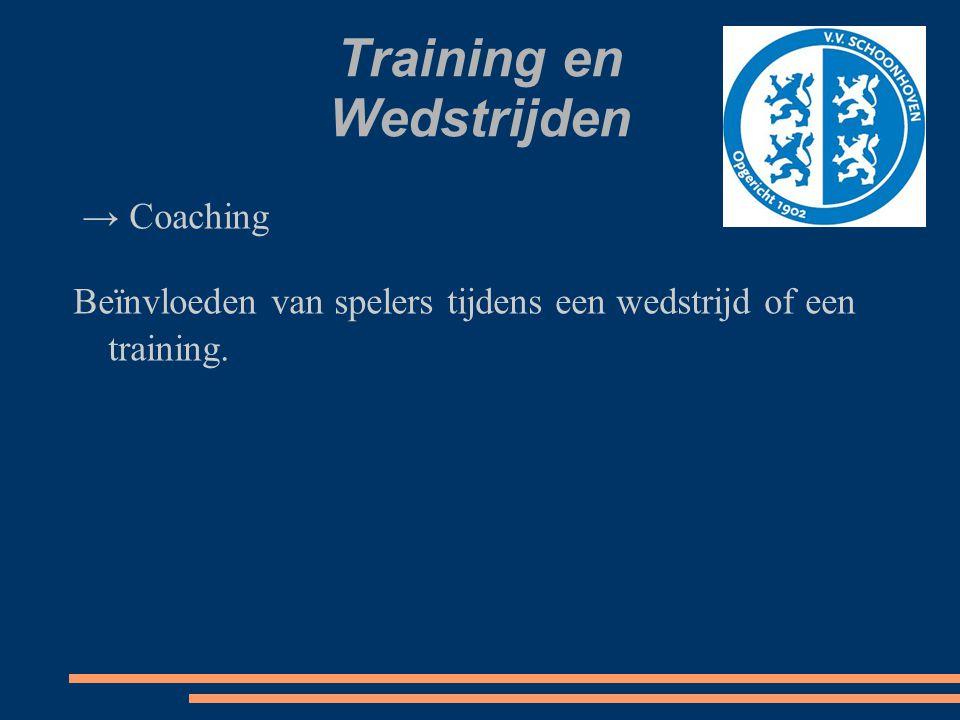Training en Wedstrijden