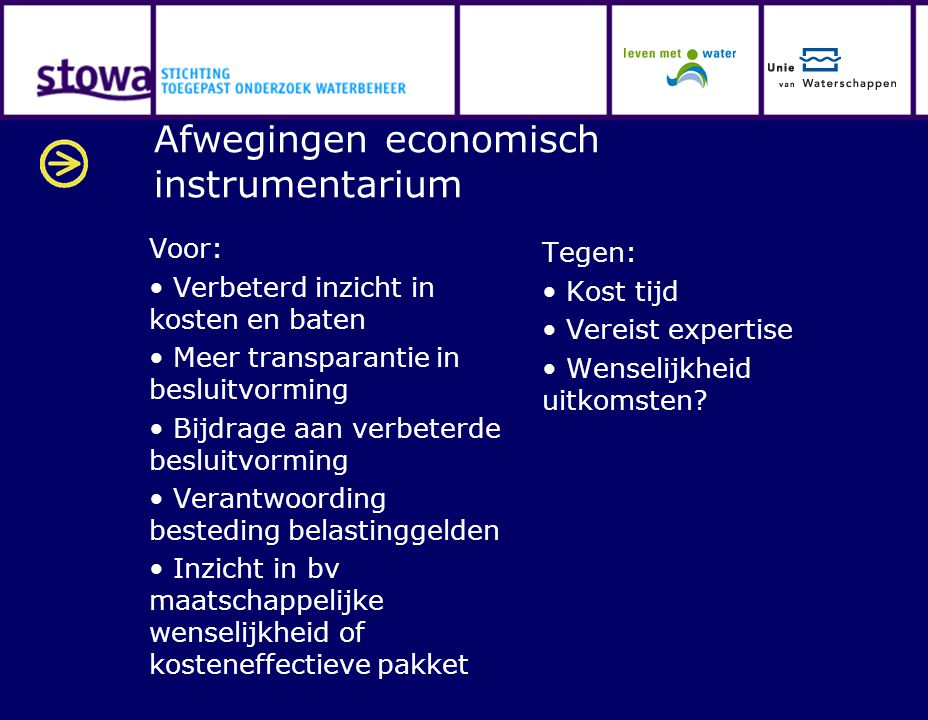 Afwegingen economisch instrumentarium