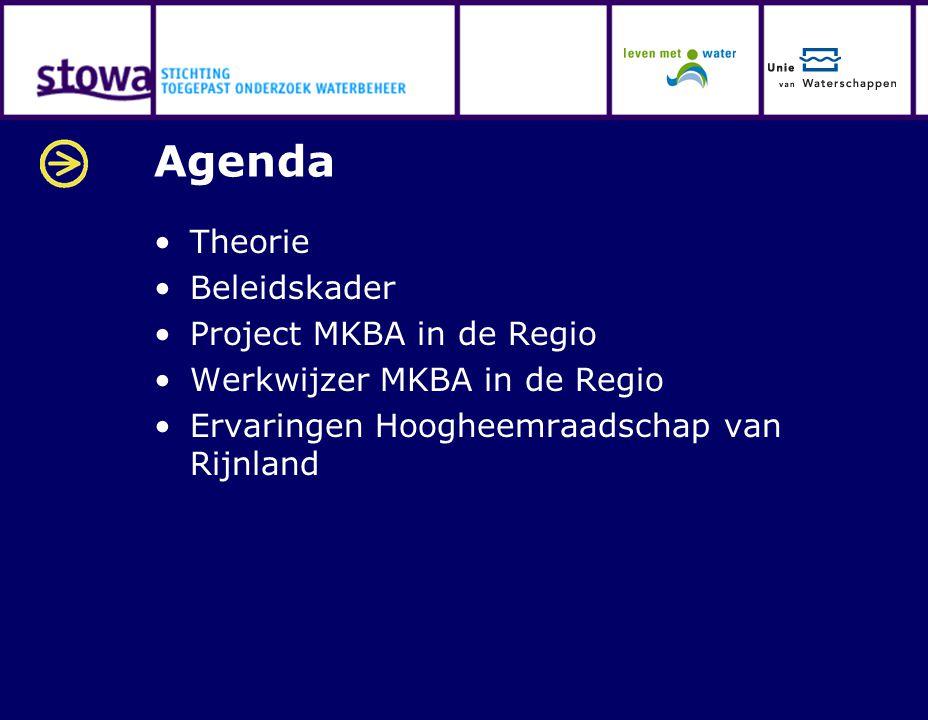 Agenda Theorie Beleidskader Project MKBA in de Regio