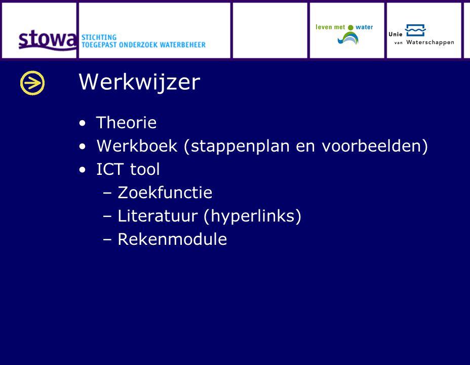 Werkwijzer Theorie Werkboek (stappenplan en voorbeelden) ICT tool