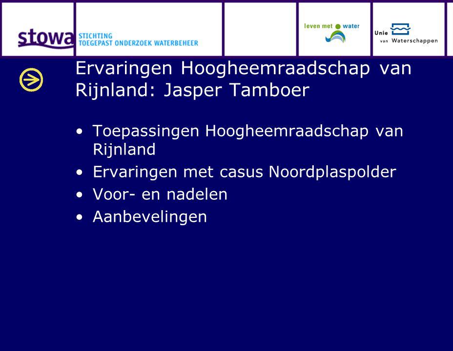 Ervaringen Hoogheemraadschap van Rijnland: Jasper Tamboer
