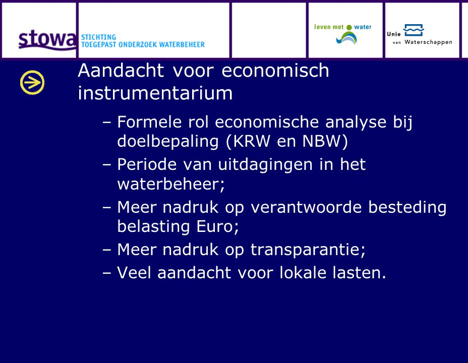 Aandacht voor economisch instrumentarium