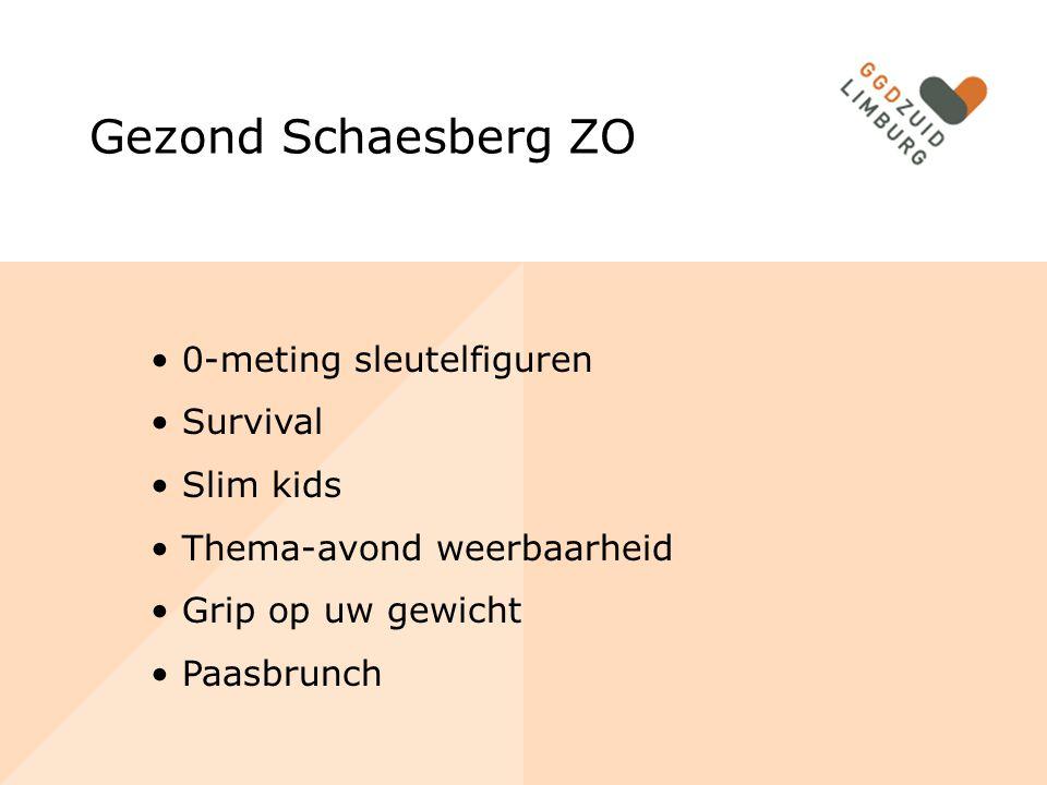 Gezond Schaesberg ZO 0-meting sleutelfiguren Survival Slim kids