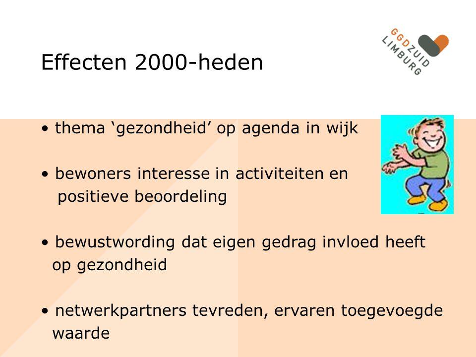 Effecten 2000-heden thema 'gezondheid' op agenda in wijk