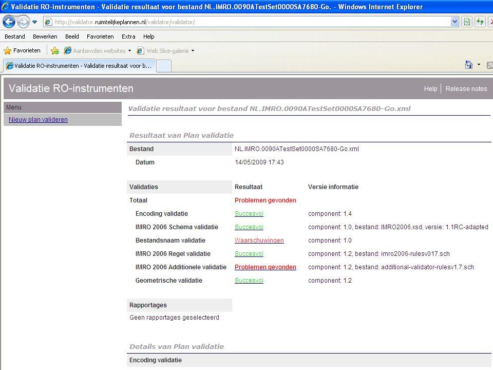 Validator Aanvullende controles: Verbeterde userinterface