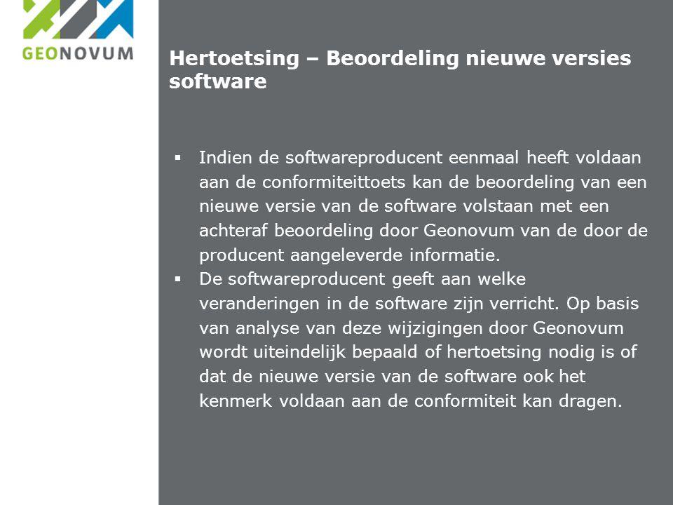 Hertoetsing – Beoordeling nieuwe versies software