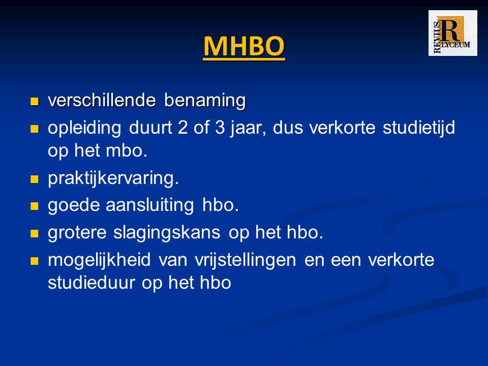 MHBO verschillende benaming