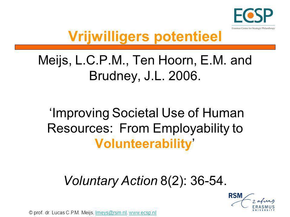 Vrijwilligers potentieel