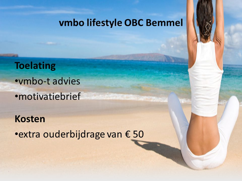 vmbo lifestyle OBC Bemmel