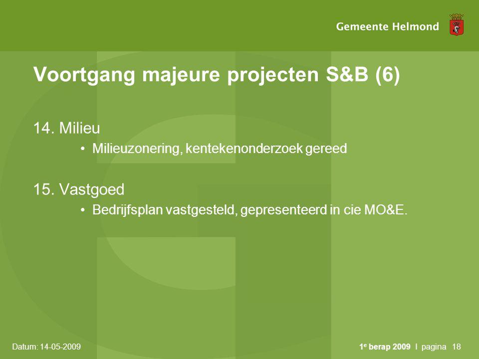 Voortgang majeure projecten S&B (6)