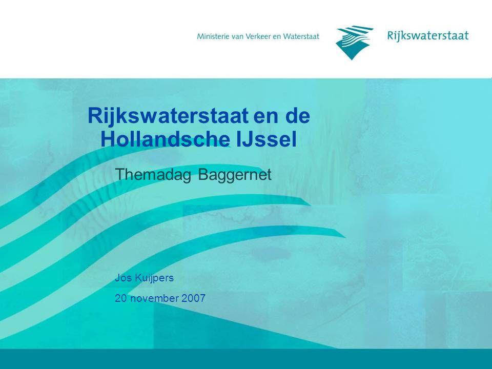 Rijkswaterstaat en de Hollandsche IJssel