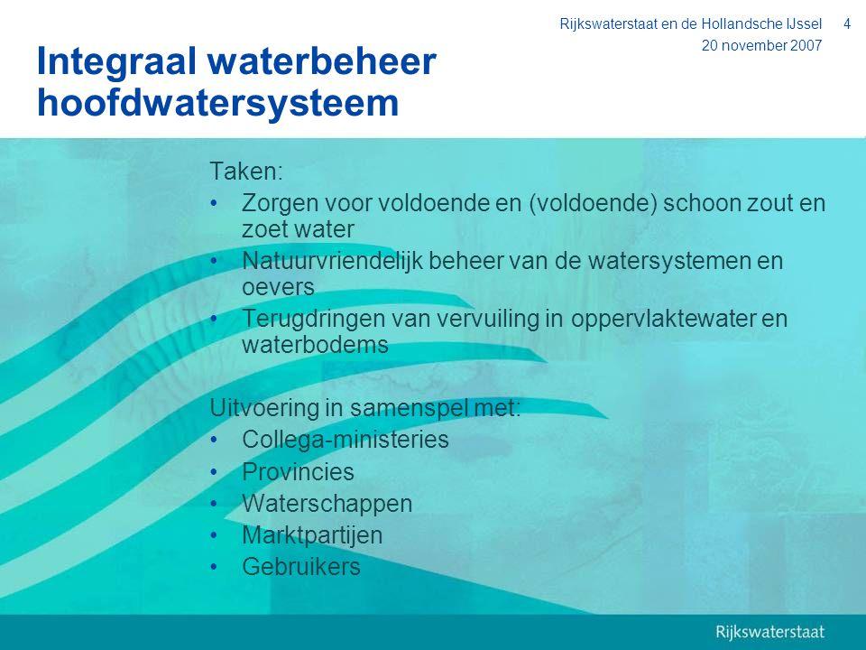 Integraal waterbeheer hoofdwatersysteem