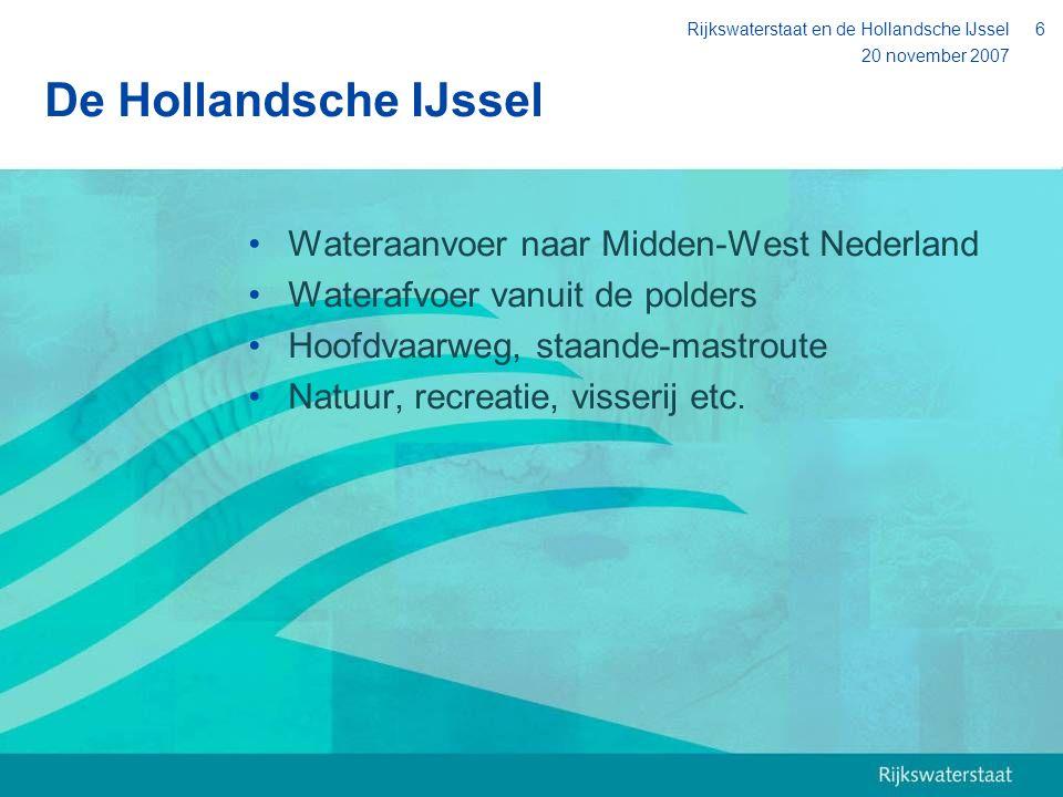 De Hollandsche IJssel Wateraanvoer naar Midden-West Nederland