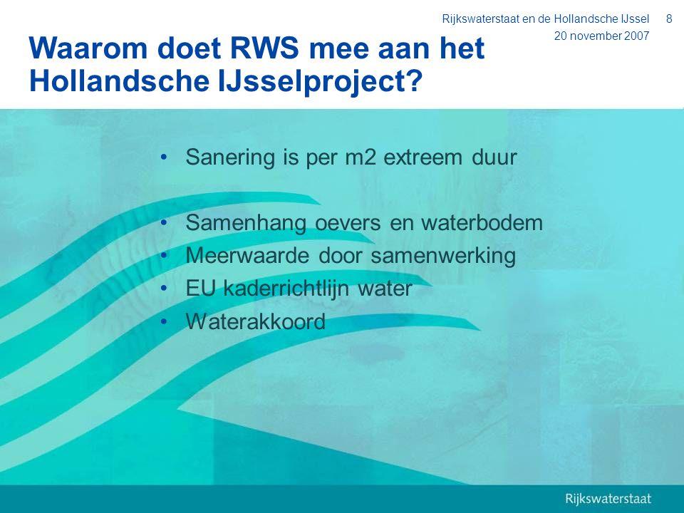 Waarom doet RWS mee aan het Hollandsche IJsselproject