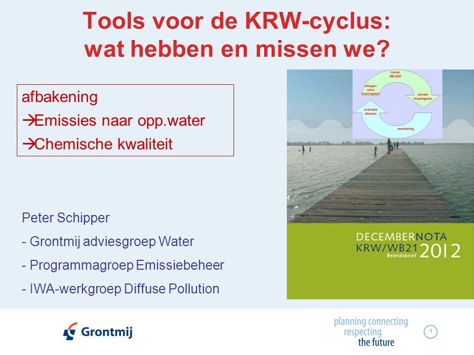Tools voor de KRW-cyclus: wat hebben en missen we