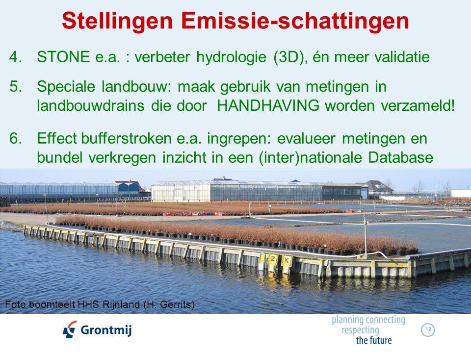 4. STONE e.a. : verbeter hydrologie (3D), én meer validatie