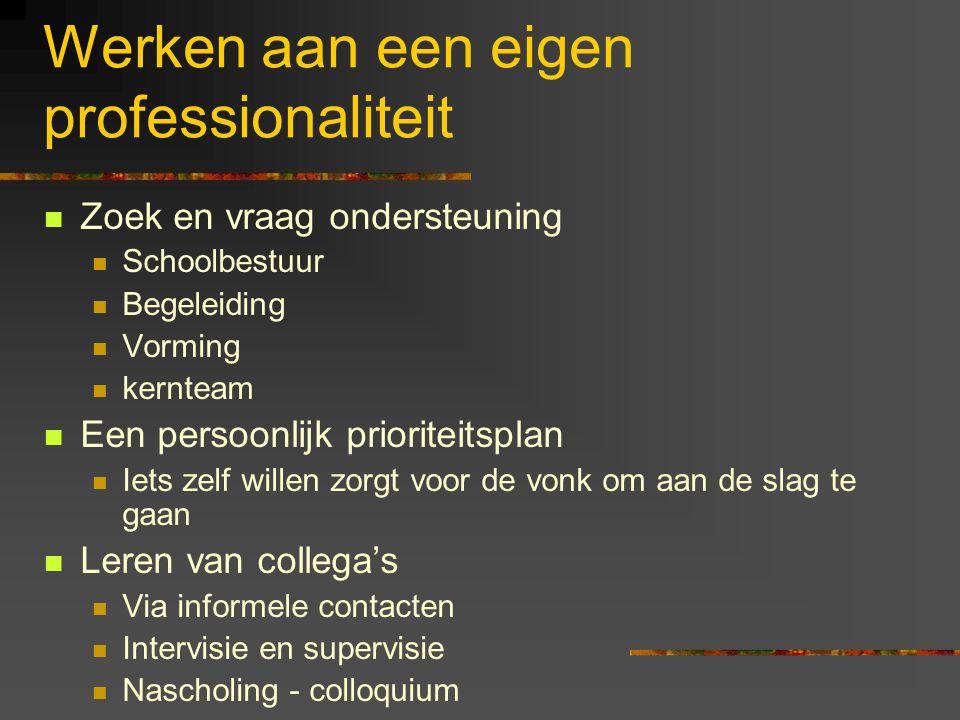 Werken aan een eigen professionaliteit