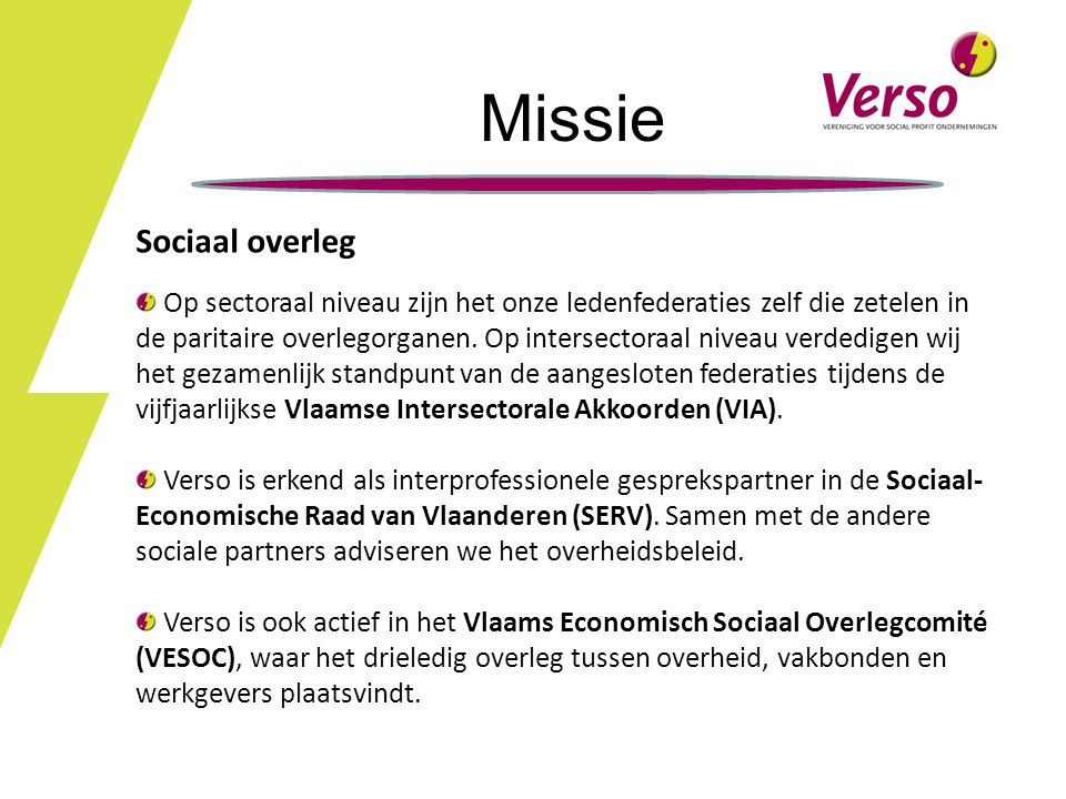 Missie Sociaal overleg
