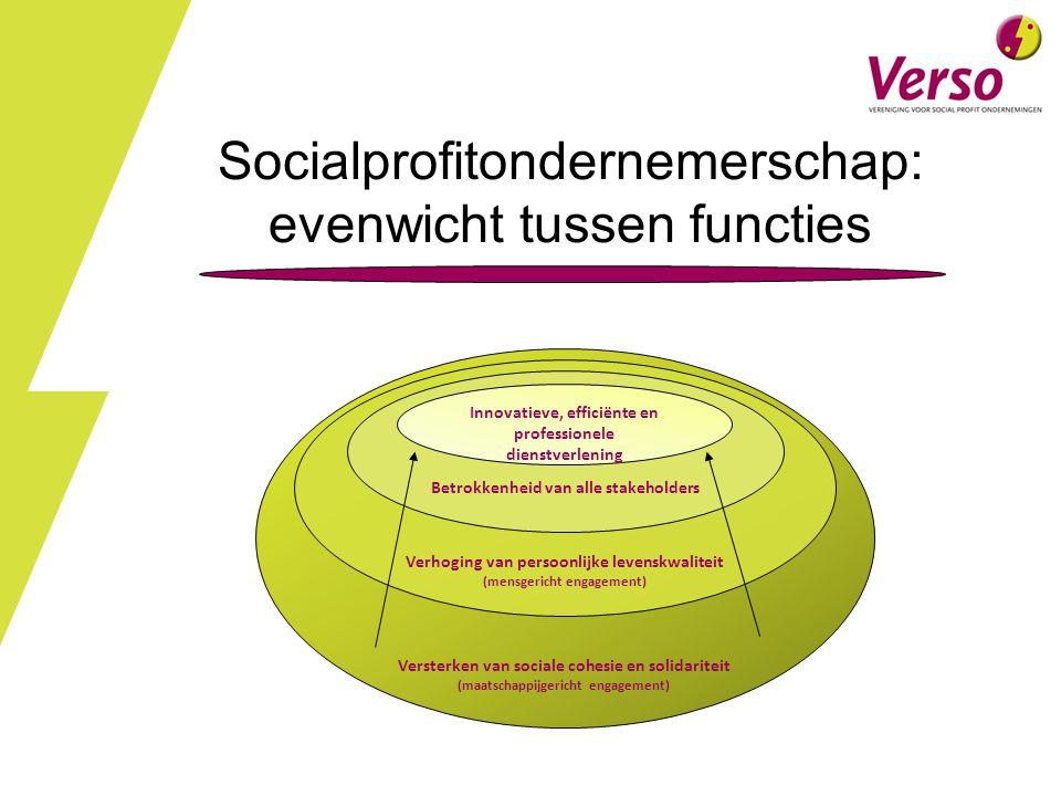 Socialprofitondernemerschap: evenwicht tussen functies