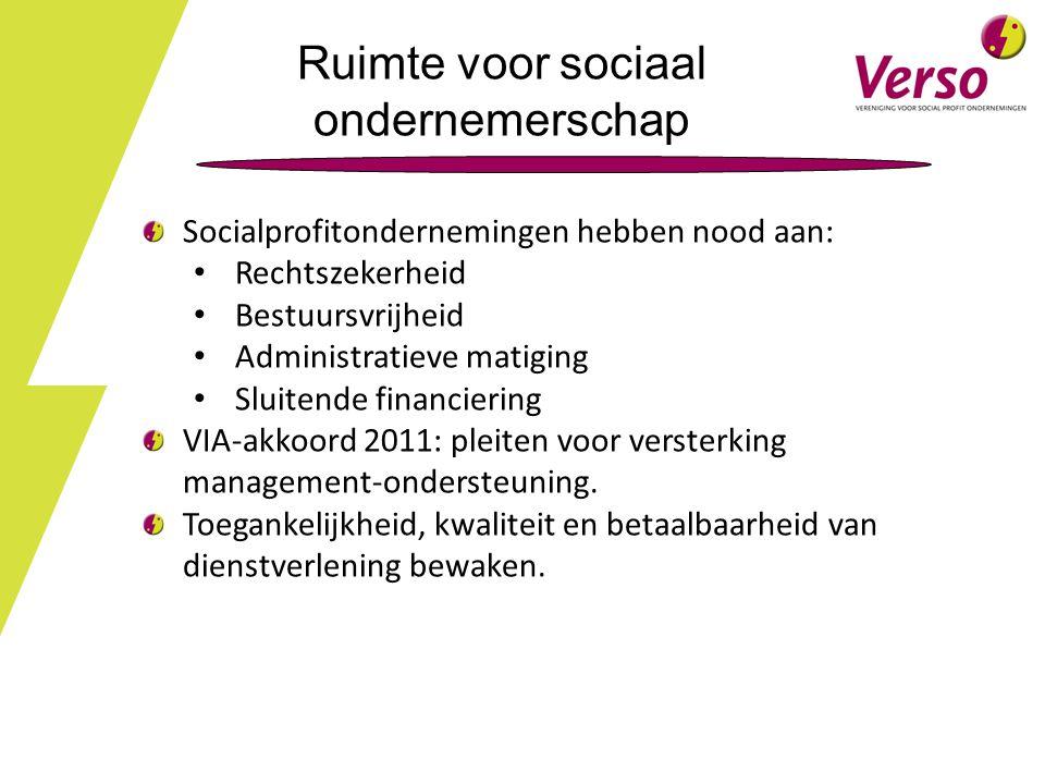 Ruimte voor sociaal ondernemerschap