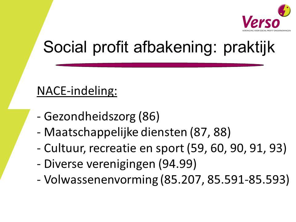 Social profit afbakening: praktijk