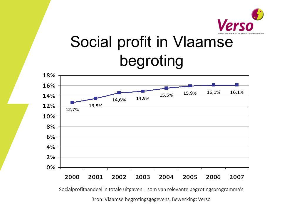 Social profit in Vlaamse begroting