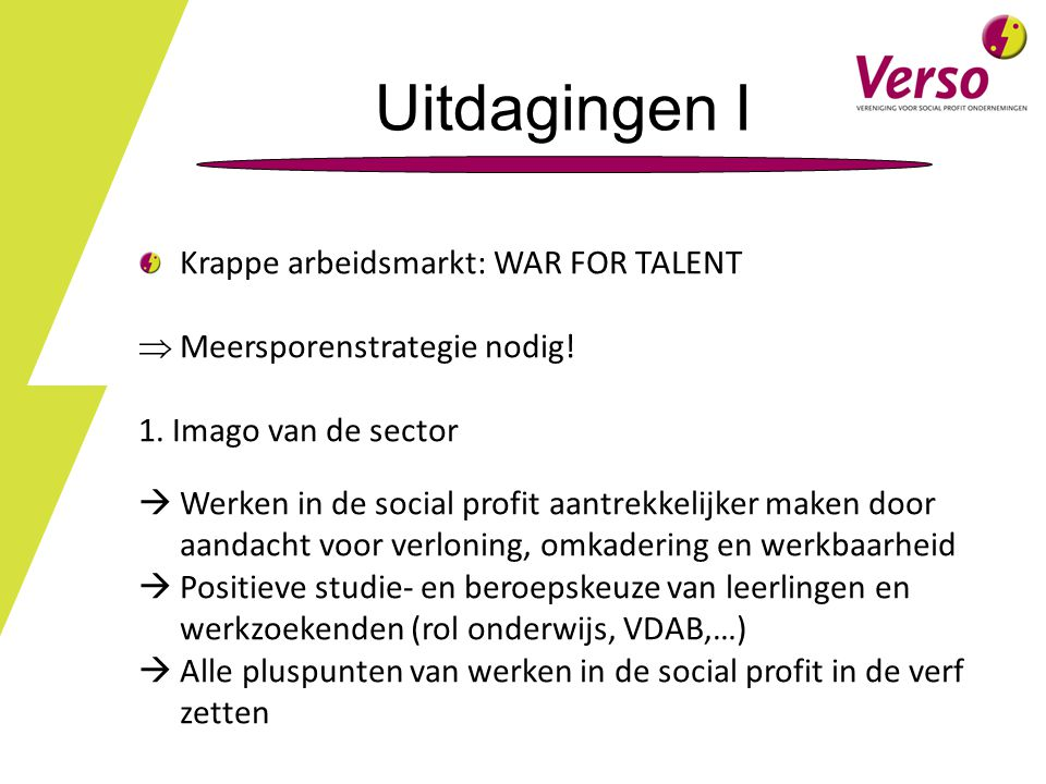 Uitdagingen I Krappe arbeidsmarkt: WAR FOR TALENT