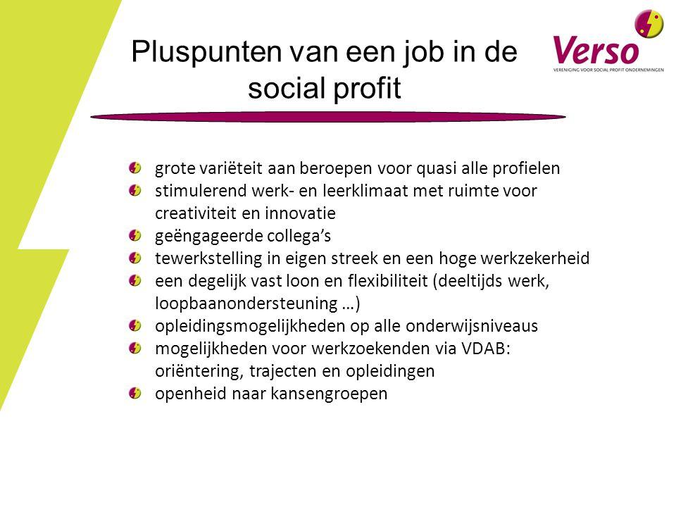 Pluspunten van een job in de social profit