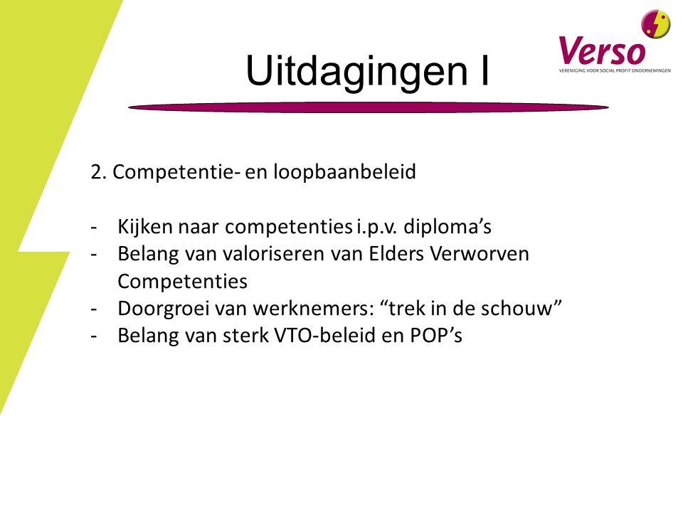 Uitdagingen I 2. Competentie- en loopbaanbeleid