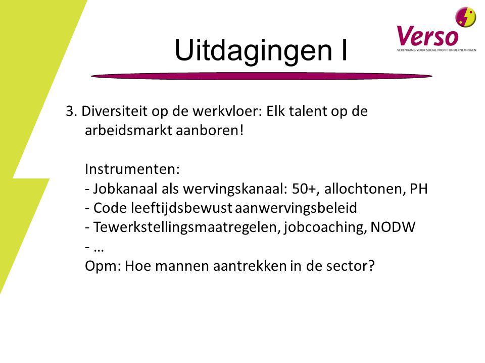 Uitdagingen I 3. Diversiteit op de werkvloer: Elk talent op de arbeidsmarkt aanboren! Instrumenten: