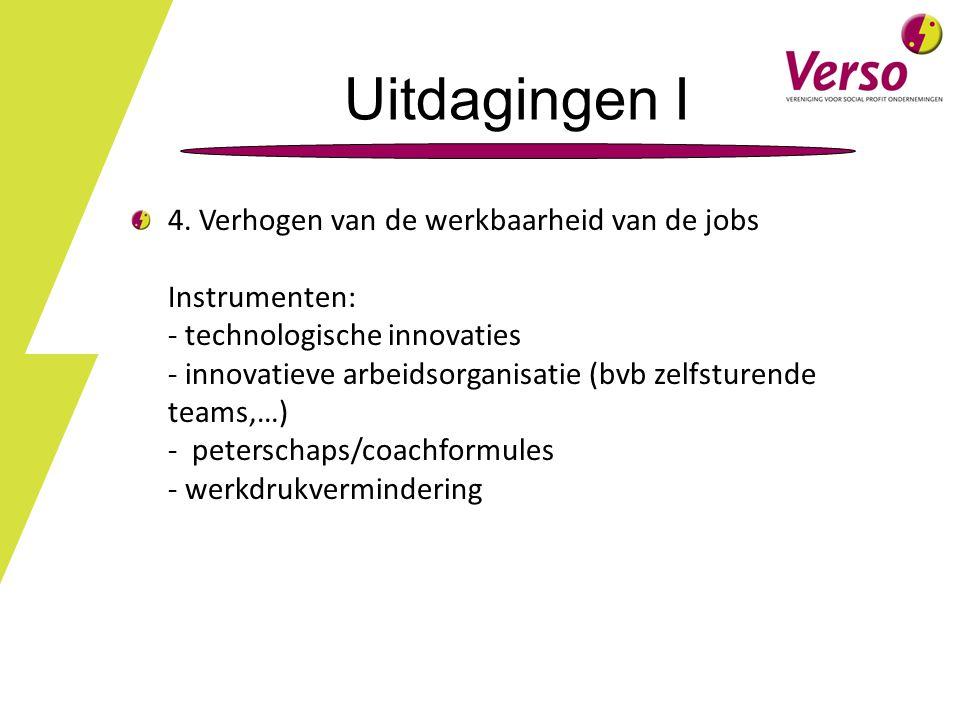Uitdagingen I 4. Verhogen van de werkbaarheid van de jobs