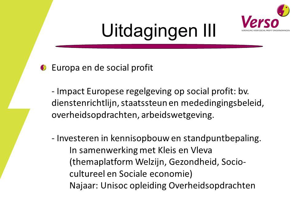 Uitdagingen III Europa en de social profit