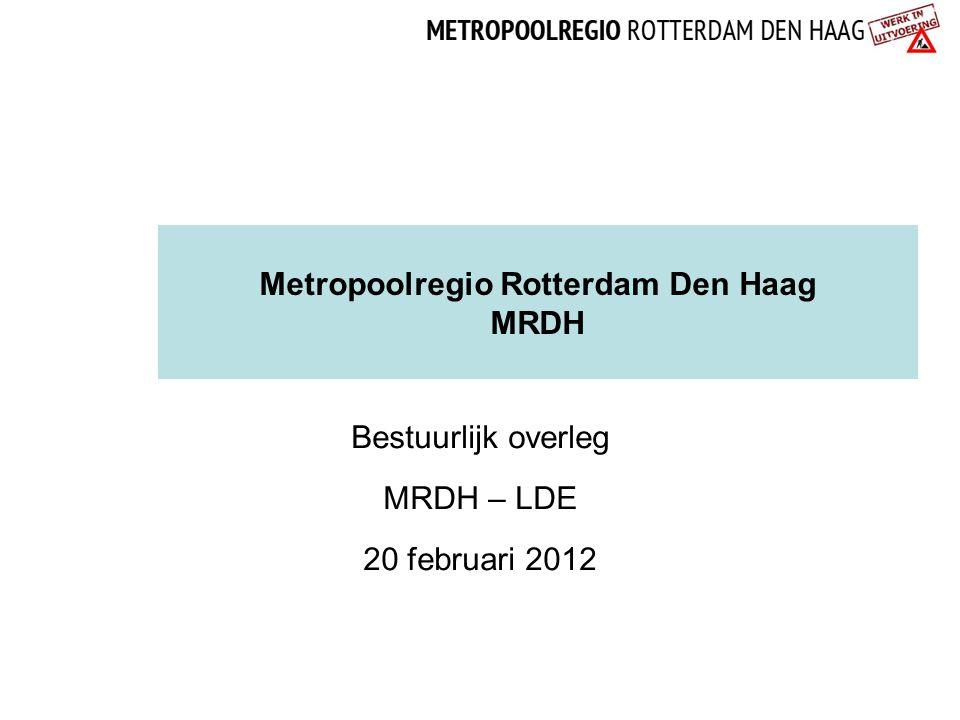 Metropoolregio Rotterdam Den Haag MRDH