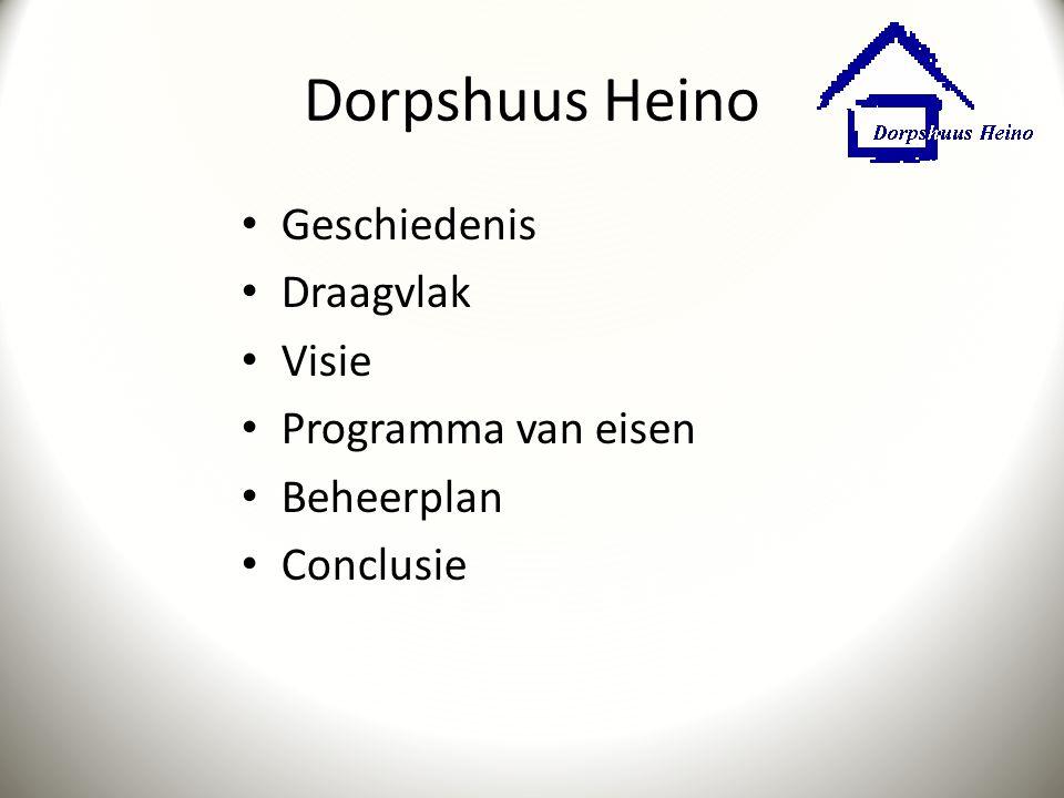 Dorpshuus Heino Geschiedenis Draagvlak Visie Programma van eisen