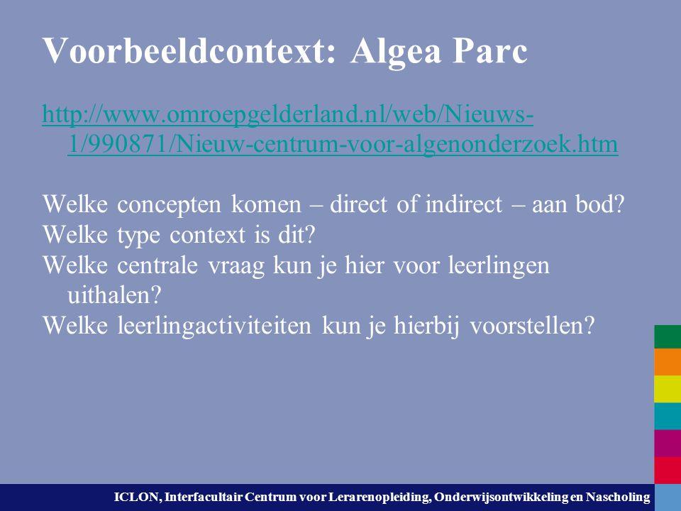 Voorbeeldcontext: Algea Parc