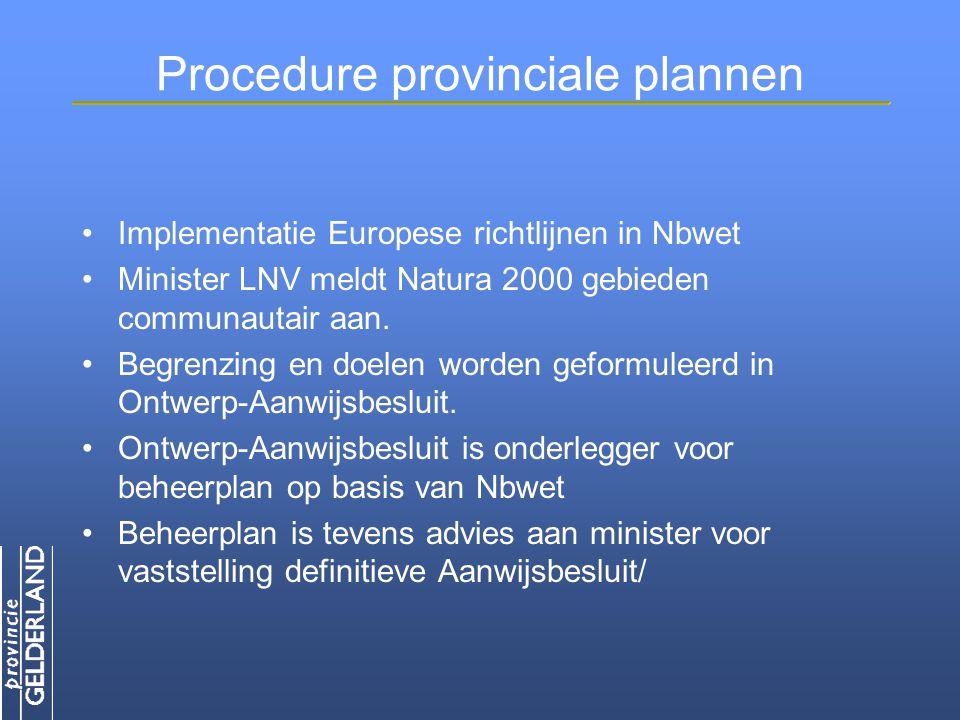 Procedure provinciale plannen