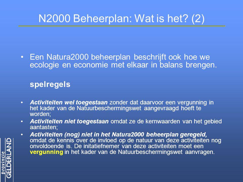 N2000 Beheerplan: Wat is het (2)