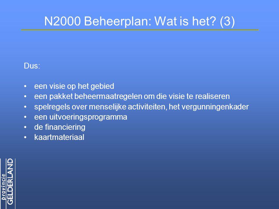 N2000 Beheerplan: Wat is het (3)