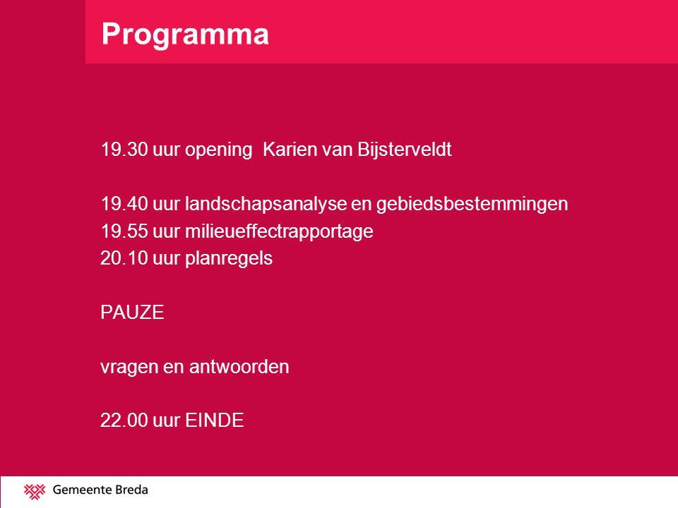 Programma 19.30 uur opening Karien van Bijsterveldt